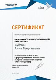 Сертификат СБиС - сферы применения и технология выпуска электронной подписи (курс менеджера)